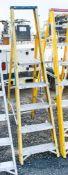 5 tread fibreglass framed aluminium step ladder
