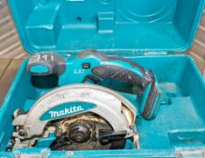 Makita cordless circular saw c/w carry case ** No charger or battery **