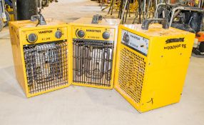 3 - Master 110v fan heaters