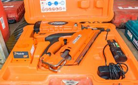 Paslode IM350 nail gun c/w charger, battery & carry case A758664