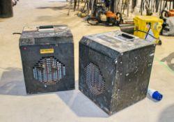 2 - 240v fan heaters