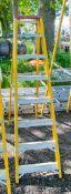 8 tread fibreglass framed aluminium step ladder