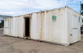 32ft x 10ft steel anti vandal jack leg office site unit comprising of office area & drying room **
