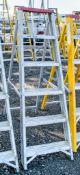 6 tread aluminium step ladder