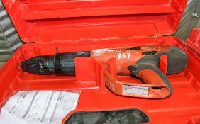 Hilti DX460 nail gun c/w carry case A783417