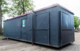 32ft x 10ft steel anti vandal jack leg office site unit Comprising of 2 offices & lobby GT457154