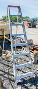 8 tread aluminium step ladder