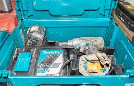 Makita 18v cordless 1/2 inch impact wrench c/w charger, battery & carry case A724838