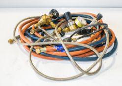 Gas welding pipes & regulators