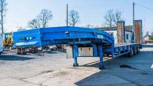 Tirsan tri-axle step frame low loader trailer Year: 2002 Reg: C113884 S/N: 220122 MOT Expires: 31/