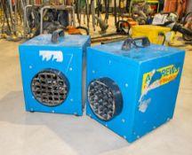 2 - Andrews 240v fan heaters