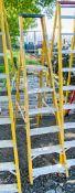 6 tread fibreglass framed aluminium step ladder
