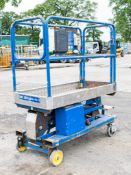 Power Tower battery electric push along scissor lift access platfrom  Year: 2011 PF1300