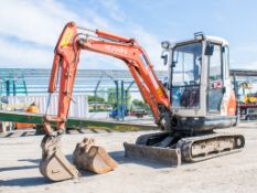 Kubota 61-3 2.6 tonne rubber tracked mini excavator Year: 2012 S/N:79112 Recorded hours: 3890 blade,