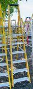 7 tread fibreglass framed aluminium step ladder