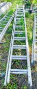 2 stage aluminium ladder XLA002