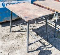 Collapsible steel work bench