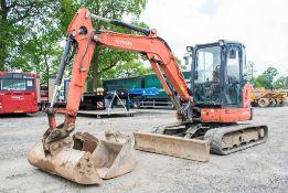 Kubota U48-4 4.8 tonne rubber tracked excavator Year: 2011 S/N: 50514 Recorded hours: 3831 blade,