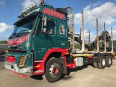 2014 Volvo FMX 500 Euro 6 Auto 6 x 4 timber carrying crane lorry Registration Number: ES54 RTS