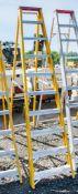 10 tread fibreglass framed aluminium step ladder