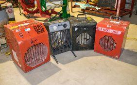 4 - 110v fan heaters