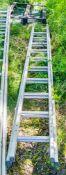 2 stage aluminium ladder XLA755