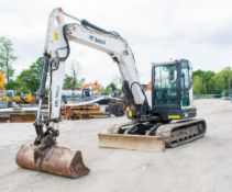 Bobcat E80 8 tonne rubber tracked excavator Year: 2013 S/N: aet312767 Recorded Hours: 2244 blade,