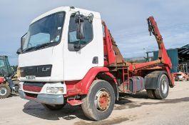 DAF LF55.220 18 tonne manual skip lorry Registration Number: YJ05 SFV Date of Registration: 01/05/