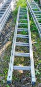 2 stage aluminium ladderXLA804