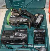 Hitachi 18v rebar cutter c/w 2 batteries, charger & carry case A739954
