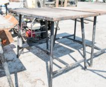 Collapsible steel work bench A684815