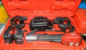 Rothenberger 18v cordless crimping tool c/w 2 batteries, charger, 4 - jaws & carry case A649010