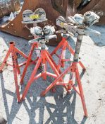 5 - Ridgid roller stands ** 1 with roller missing ** CO
