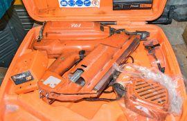 Paslode nail gun c/w 2 - batteries, charger & carry case HS 10493 ** Parts dismantled **