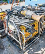 JCB Beaver petrol driven hydraulic power pack c/w anti-vibe breaker & hoses A698481