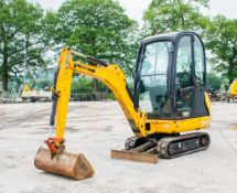 JCB 8016 1.5 tonne rubber tracked mini excavator Year: 2014 S/N: 71634 Recorded Hours: 2108 blade,
