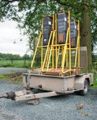 Hazlewood single axle traffic light trailer c/w 4 battery traffic lights A533276/A555706/A529395/