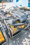 JCB Beaver petrol driven hydraulic power pack c/w anti-vibe breaker & hoses A371856/A666676