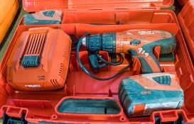 Hilti SFH 22-A 22v cordless rotary hammer drill c/w 2 - batteries, charger & carry case A750668