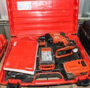 Hilti SD5000-A22 22v cordless screw gun c/w 2 batteries, charger & carry case A741093