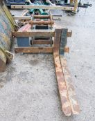 Strickland fork carriage to suit excavator A660441