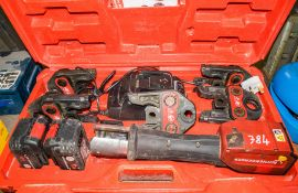 Rothenberger 18v cordless crimping tool c/w 2 batteries, charger, 5 - jaws & carry case A661141