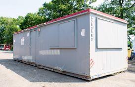 32 ft x 10 ft steel anti vandal ofiice site unit c/w keys A580663