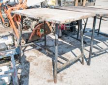 Collapsible steel work bench A691500
