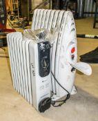 2 - 240v oil filled radiators