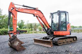 Kubota U48-4 4.8 tonne rubber tracked excavator Year: 2011 S/N: 50574 Recorded Hours: 3359 blade,