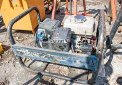SDMO 110v/240v petrol driven generator ** Air filter housing missing **