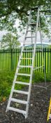 12 tread aluminium step ladder AST904