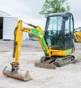 JCB 8016 1.5 tonne rubber tracked mini excavator Year: 2013 S/N: 2071419 Recorded Hours: 1950