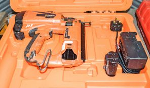 Paslode Impulse nail gun c/w battery, charger & carry case A762166